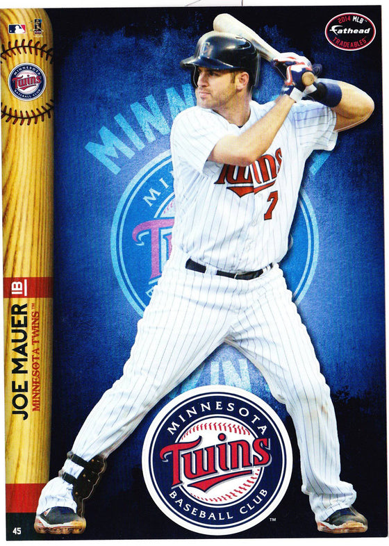 MLB Minnesota Twins Joe Mauer Fathead Tradeable Decal Sticker 5x7