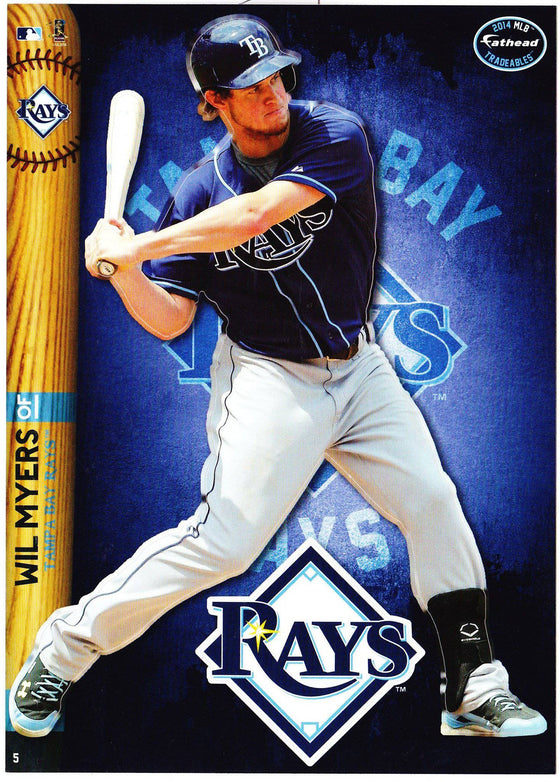 MLB Tampa Bay Rays Wil Myers Fathead Tradeable Decal Sticker 5x7