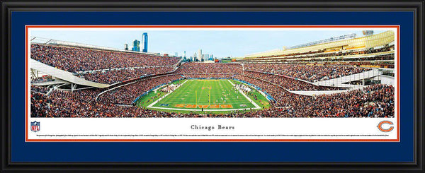 "Chicago Bears Solider Field 17"" x 44"" Endzone Deluxe Framed Panoramic Photo"