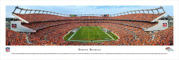 "Denver Broncos Panoramic Picture 13.5""x40"" Unframed Sports Authority Field at Mile High Stadium Panorama Photo"