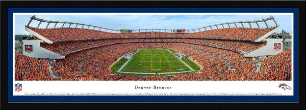 "Denver Broncos Panoramic Picture 17""x44"" Select Framed Sports Authority Field at Mile High Stadium Panorama Photo"