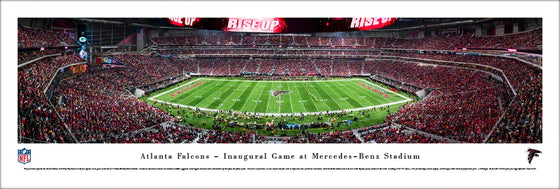 Atlanta Falcons - 1st Game at Mercedes-Benz Stadium - Unframed