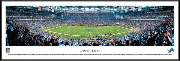 "Detroit Lions Panoramic Photo 14""x40"" Standard Framed Ford Field Picture"