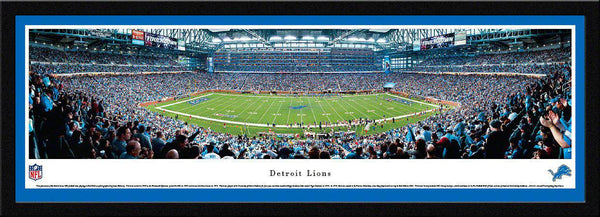 "Detroit Lions Panoramic Photo 17""x44"" Select Framed Ford Field Picture"