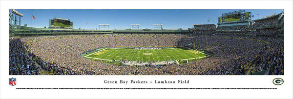"Green Bay Packers Panoramic Photo 13.5""x40"" Sideline Unframed Lambeau Field Picture"