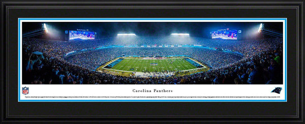 "Carolina Panthers Bank of America Stadium 17"" x 44"" Deluxe Framed Panoramic Photo"