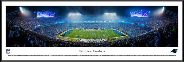 "Carolina Panthers Bank of America Stadium 14"" x 40"" Standard Framed Panoramic Photo"