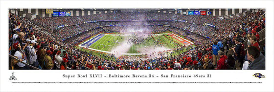 "Baltimore Ravens 13.5"" x 40"" Super Bowl XLVII Champions Celebration Unframed Panoramic Photo"