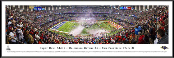 "Baltimore Ravens 14"" x 40"" Super Bowl XLVII Champions Celebration Standard Framed Panoramic"