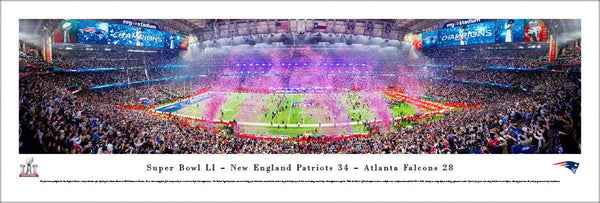 "2017 New England Patriots Super Bowl Panoramic Picture 13.5"" x 40"" Unframed Super Bowl 51 LI Panorama Photo"