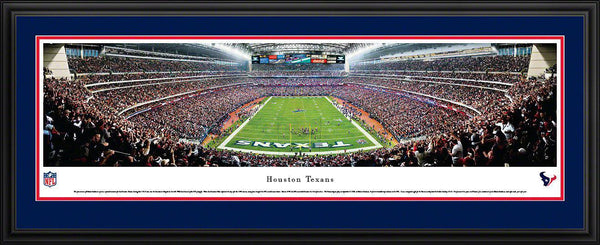 "Houston Texans Panoramic Photo 17""x44"" Deluxe Framed Reliant Stadium Picture End Zone"