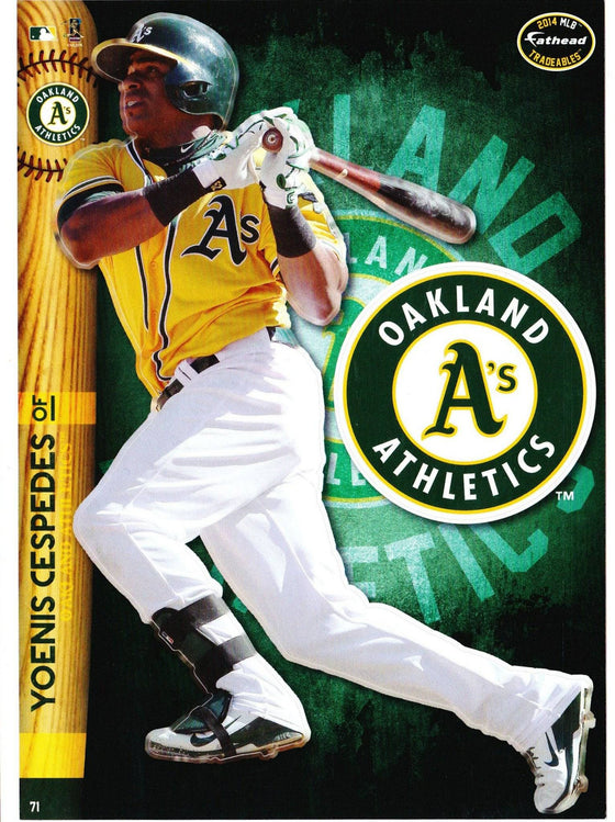 MLB Oakland A's Yoenis Cespedes Fathead Tradeable Decal Sticker 5x7