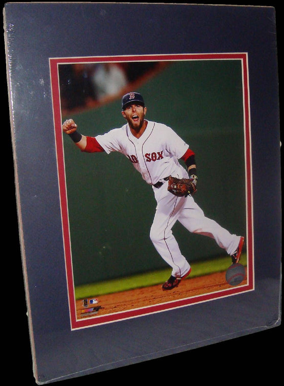 Dustin Pedroia Boston Red Sox Fist Matted 8x10 Photo Picture Poster Print