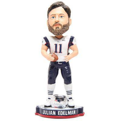 New England Patriots Julian Edelman Forever Collectibles Super Bowl 49 Champ Bobble Head