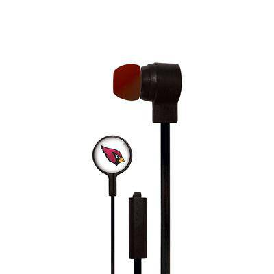 Arizona Cardinals Big Logo Earbud Headphones with Microphone