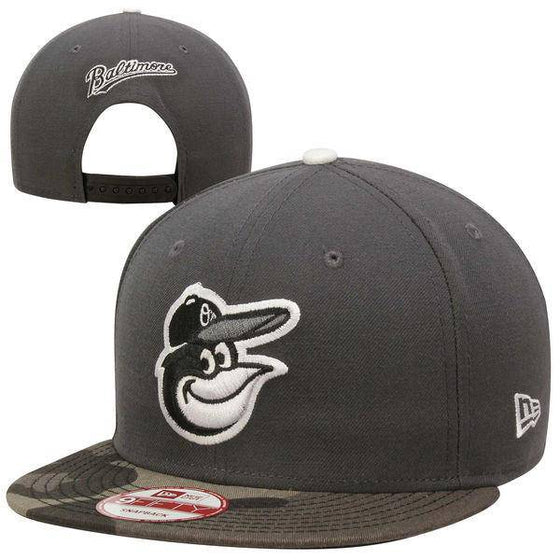 MLB Baltimore Orioles New Era 9Fifty Gray/Camo Brim Snapback Hat