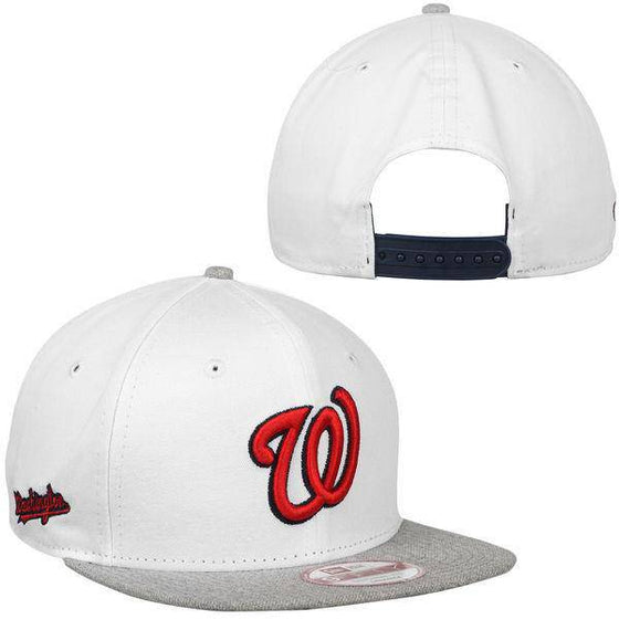 MLB Washington Nationals New Era 9Fifty Logo Refresh White/Gray Snapback Hat