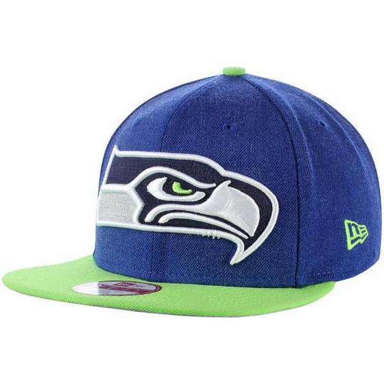 NFL Seattle Seahawks New Era 9Fifty Logo Grand Snapback Hat - 757 Sports Collectibles