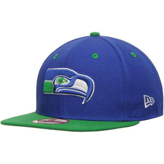 NFL Seattle Seahawks New Era 9Fifty Two Tone Throwback Snapback Hat - 757 Sports Collectibles