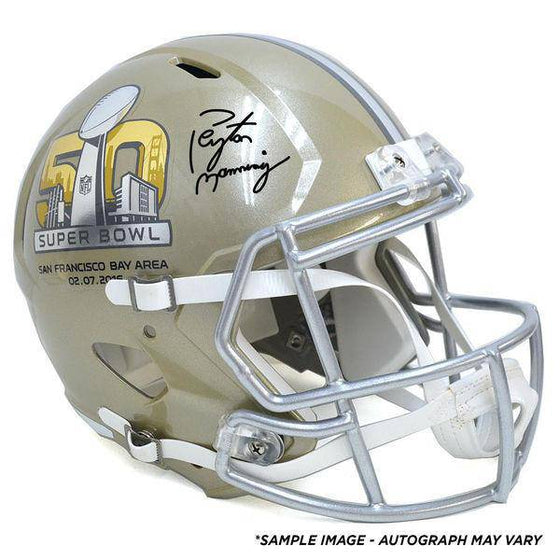 Peyton Manning Denver Broncos Fanatics Authentic Autographed Riddell Super Bowl 50 Pro Line Authentic Helmet