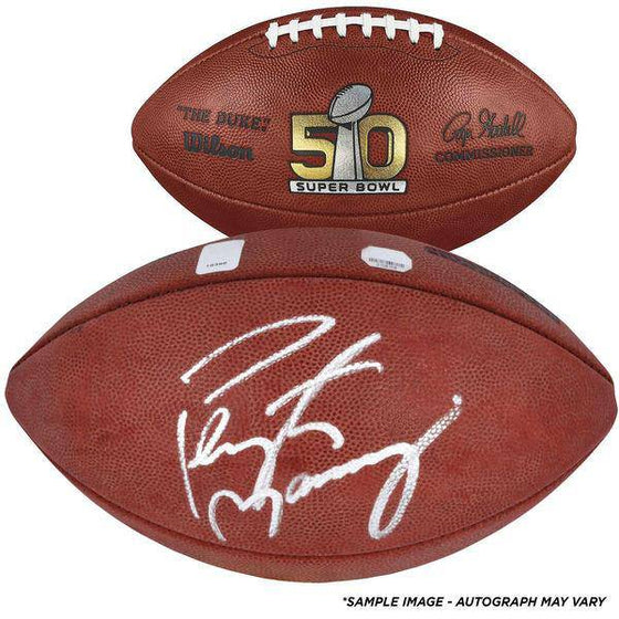Peyton Manning Denver Broncos Fanatics Authentic Autographed Super Bowl 50 Football - 757 Sports Collectibles