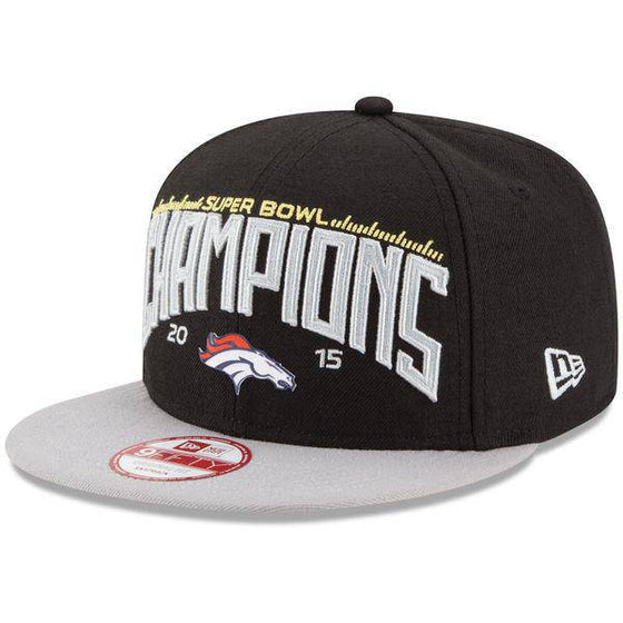 Denver Broncos Nike Super Bowl 50 Champions Official Locker Room Performance Snapback Adjustable Hat - Black