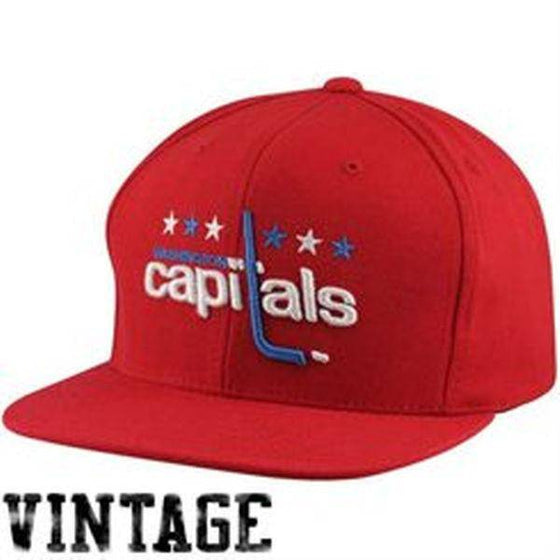 NHL Washington Capitals Mitchell and Ness Solid Red Snapback Hat
