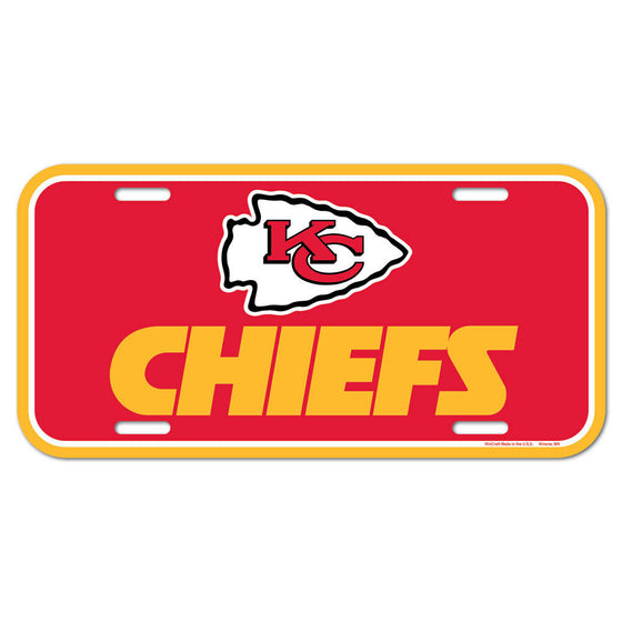 Wincraft - NFL - Plastic License Plate - Pick Your Team - FREE SHIP (Kansas City Chiefs)