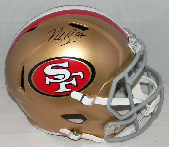 NICK BOSA SIGNED AUTOGRAPHED SAN FRANCISCO 49ERS FULL SIZE SPEED HELMET BECKETT
