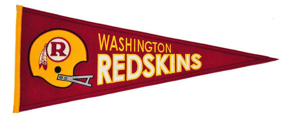 "Washington Redskins 32"" Wool Embroidered Throwback Pennant"