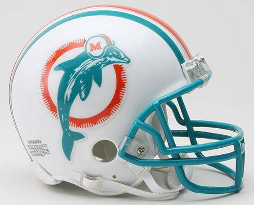 Miami Dolphins NFL Throwback 1980-1996 Mini Helmet