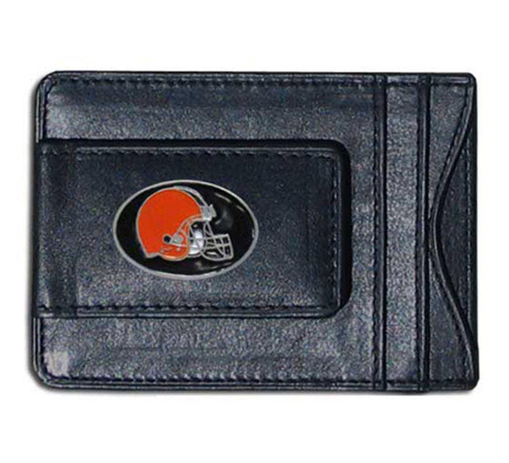 NFL Cleveland Browns Leather Money Clip Cash & Cardholder