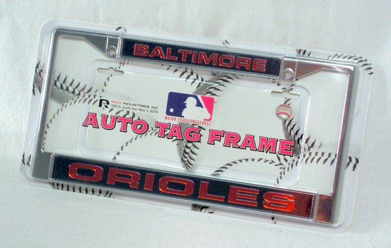 MLB Baltimore Orioles Laser-Cut Chrome License Plate Frame - 757 Sports Collectibles