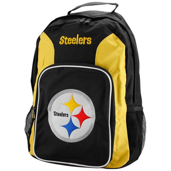 NFL Pittsburgh Steelers Embroidered Team Logo Southpaw Backpack