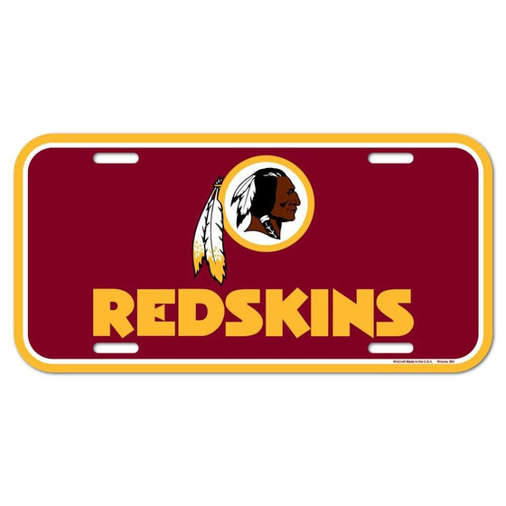 Wincraft - NFL - Plastic License Plate - Pick Your Team - FREE SHIP (Washington Redskins)