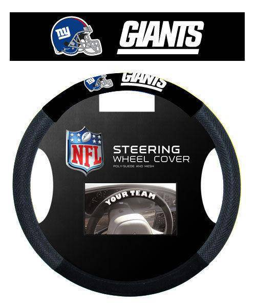 NFL New York Giants Poly-Suede Universal Steering Wheel Cover