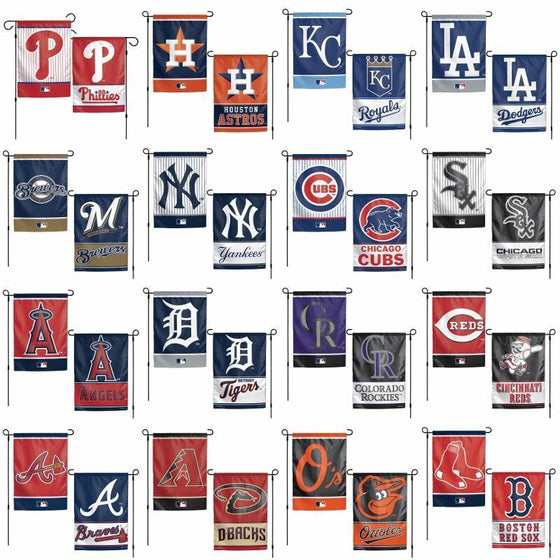 MLB 12x18 Garden Flag Double Sided - Pick Your Team - FREE SHIPPING