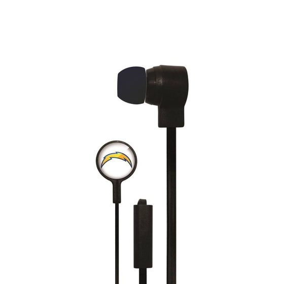 San Diego Chargers Big Logo Earbud Headphones with Microphone