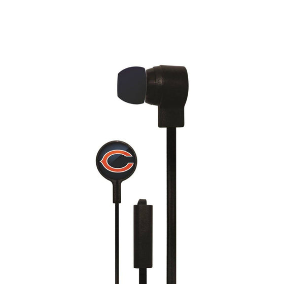 Chicago Bears Big Logo Earbud Headphones with Microphone