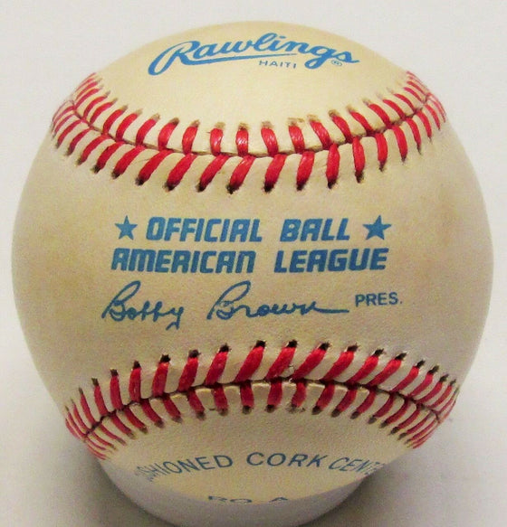 "Braves HENRY ""HANK"" AARON Signed Official AL Baseball AUTO #2 - HOF - Brewers"