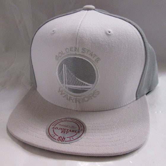 NBA Mitchell and Ness Golden State Warriors White Wall Snapback Hat