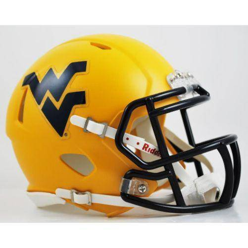 West Virginia Mountaineers Gold Speed Mini Helmet