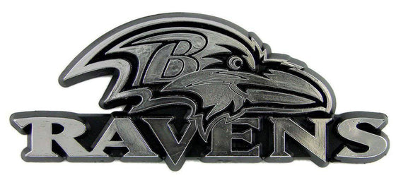 NFL Baltimore Ravens Chrome Automobile Car Emblem