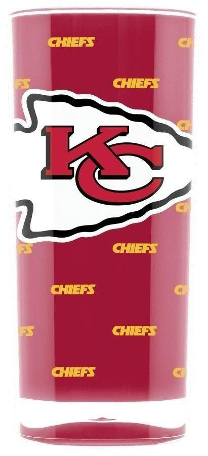 NFL Kansas City Chiefs 16oz Insulated Square Acrylic Tumbler