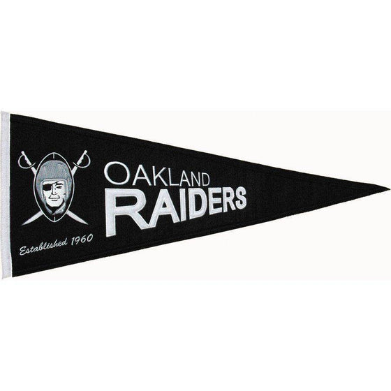 "Oakland Raiders 32"" Wool Embroidered Throwback Pennant"