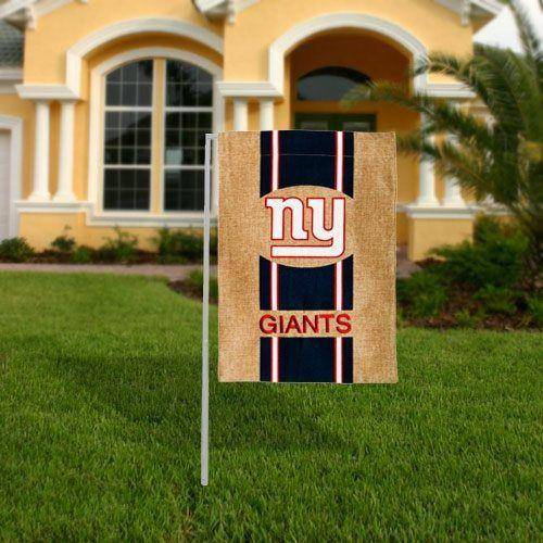 "NFL New York Giants Burlap Garden Flag 12.5"" x 18"" - 757 Sports Collectibles"