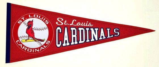 "St. Louis Cardinals 32"" Wool Embroidered Cooperstown Pennant - 757 Sports Collectibles"