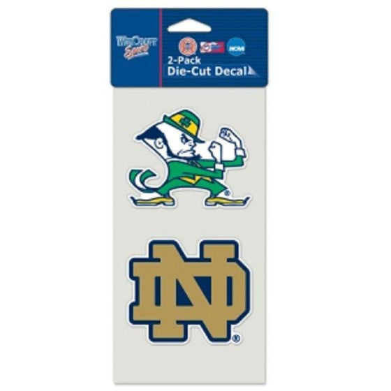 Notre Dame Fighting Irish Perfect Cut 4x4 Diecut Decal (2 Pack)