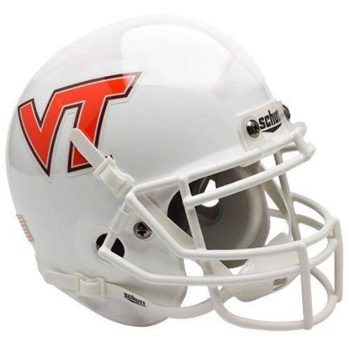 Virginia Tech Hokies White Orange VT Mini Helmet