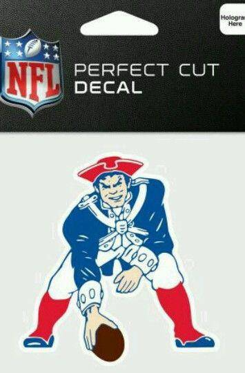 New England Patriots Throwback Perfect Cut 4x4 Diecut Decal